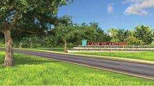 e Cane Island monument sign.