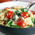 Pasta and Chicken in Garlic Cream Sauce